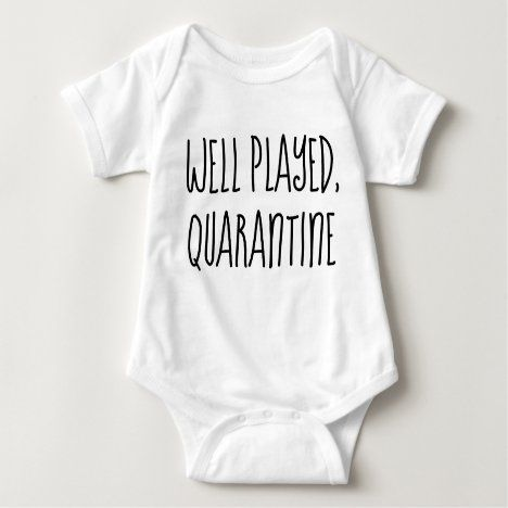 Born In Quarantine Infant Baby Rib Bodysuit Jumpsuit Baby shower Gift Clothes