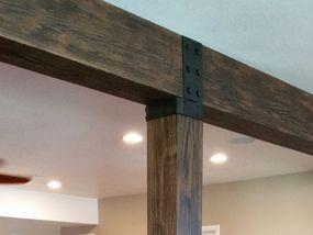 Beam Straps Plates Hangers Fake Wood Beam Accessories Wood Beams Fake Beams Ceiling Ceiling Beams Living Room