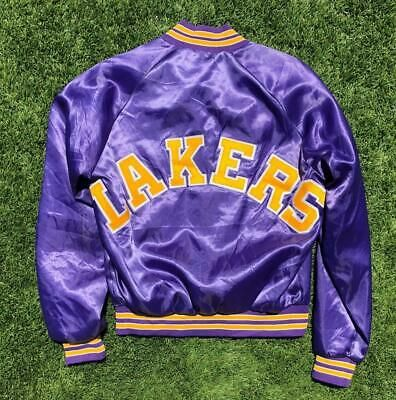Euc Vtg 80s 90s Purple Chalk Line Los Angeles Lakers Satin Basketball Jacket M In 2020 Jackets Los Angeles Lakers Lakers Colors