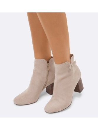 Briana Side Bow Ankle Boots Back Image