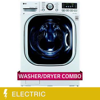 Lg All In One 4 3cuft Ultra Large Capacity Washer And Electric Ventless Dryer In White Ventless Dryer Lg Washer And Dryer Washer And Dryer