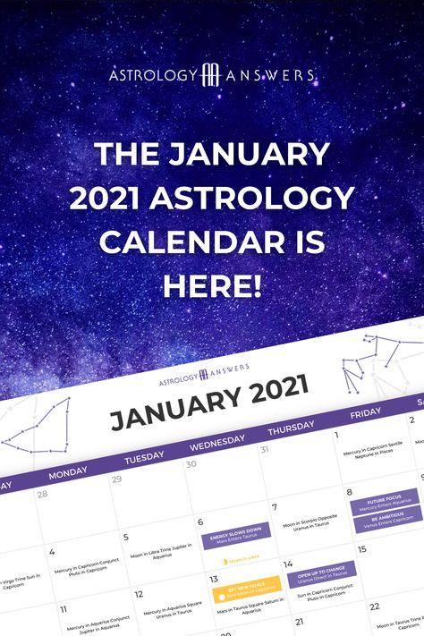 Learn about all the important transits and energies of January 2021 in the Astrology Answers Astrology Calendar. #astrology #astrologycalendar #januaryastrology #january2021 #januaryastrologycalendar #januarytransits #januarymoon #januarynewmoon #januaryfullmoon