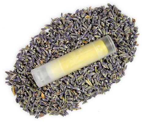 Lavender and clary sage lip balm recipe.