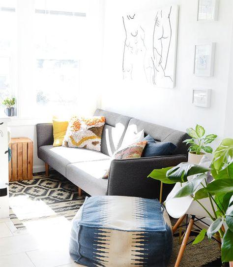 Decoracao Sem Pesar O Bolso Sala Pinterest Futon Bedroom Ikea