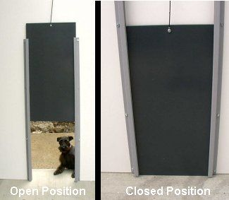 Dog House Door Ideas Dog Gate With Doggie Door Keeps The House Clean Gives  The Dog
