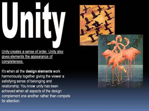 Principles of Art , Unity