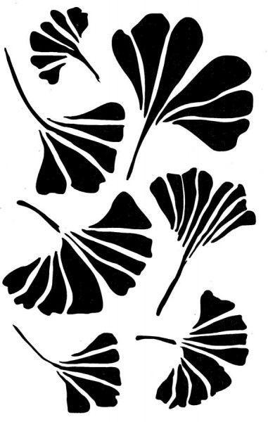 Ss14 Gingko Stencil In 2020 Leaf Stencil Flower Stencil Patterns Flower Stencil