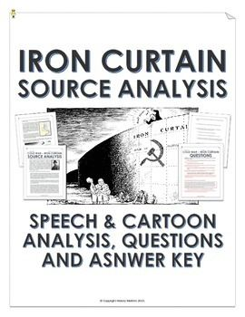 Cold War Iron Curtain Speech And Cartoon Analysis With Teacher Key Cold War Cold War Military This Or That Questions