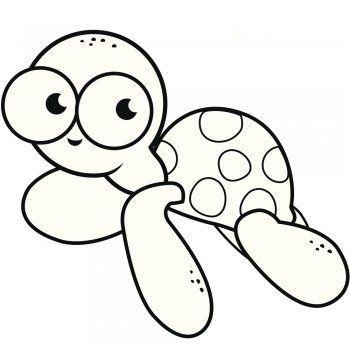 Los Logros Del Bebe Durante Sus Tres Primeros Anos Dibujo De Una Tortuga Dibujos De Animales Dibujo De Tortuga