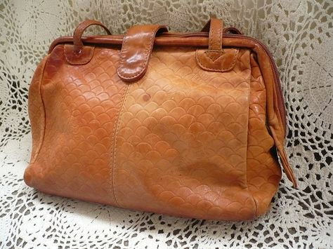 1427a8b36cc I've always wanted one of these - tan leather doctors gladstone style bag