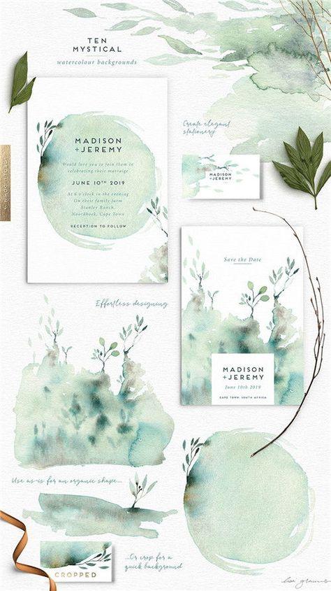 37 Mind-blowing #Watercolor Wedding Ideas