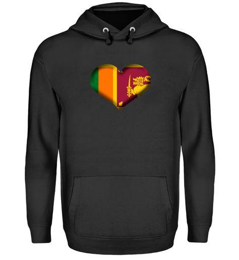 Sri Lanka Herz Flagge
