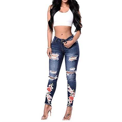 Da Donna Ricamato Crop jeans