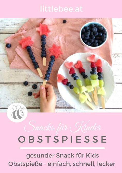 Photo of Obstspieße – leckere Obstsnacks für Kinder – LITTLEBEE