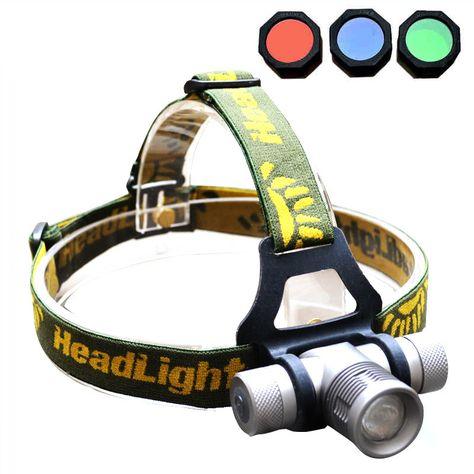 Waterproof Light Lamp  Torch R3+2 LED Head Headlight Headlamp  4-Mode 900Lm