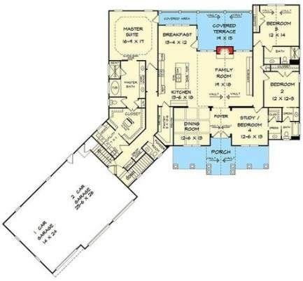 House Plans One Story Split Bonus Rooms 53 Super Ideas Craftsman House New House Plans Craftsman House Plan