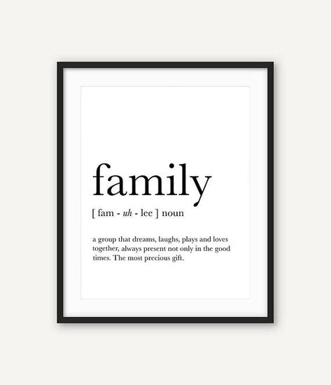 Family wall art Family definition Funny definition art