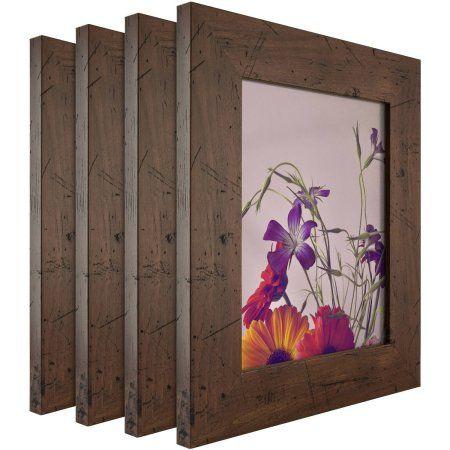 Craig Frames Bauhaus Modern Dark Walnut Picture Frame Set Of 4