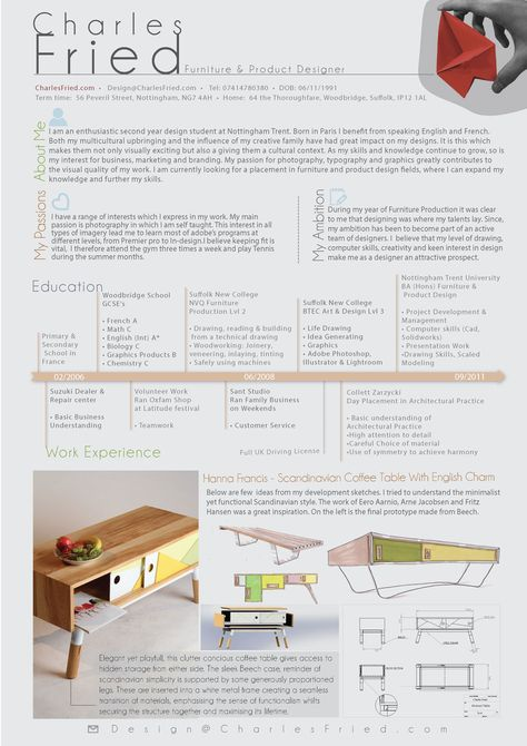 Stunning Furniture Designer Resume Photos - Best Student Resume ...