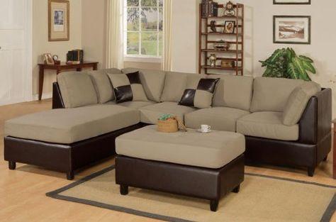 Astounding Bobkona Hungtinton Microfiber Faux Leather 3 Piece Sectional Ncnpc Chair Design For Home Ncnpcorg
