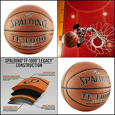 Spalding Sport Indoor Basketball Anti Sweat 29 5 Size 7 Tf 1000 Legacy Orange In 2020 Indoor Basketball Basketball Spalding