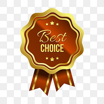 Golden Best Choice White Two Red Ribbon And Stars Ornament Golden Badge Seller Png And Vector With Transparent Background For Free Download Badge Star Ornament Badge Design