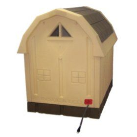 Asl Solutions Deluxe Insulated Dog Palace With Floor Heater Brown