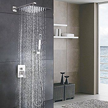 Esnbia Luxury Rain Shower Systems Wall Mounted Shower Combo Set
