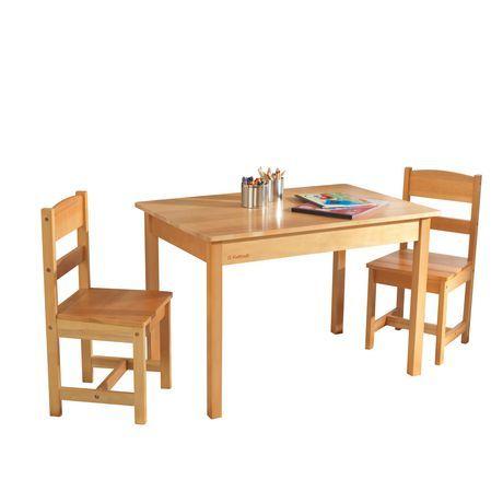 Kidkraft Kidkraft Rectangle Table 2 Chair Set Natural Wooden