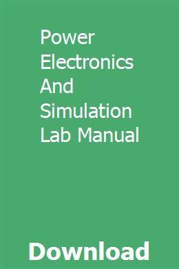 Power Electronics And Simulation Lab Manual Gmc Safari Simulation Gmc