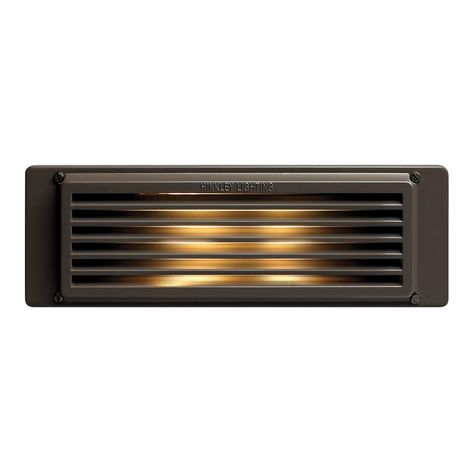 Hinkley Lighting 59024 Led 120v 2 4w Line Voltage Led Louvered Brick Light Bronze Outdoor Lighting Landscape Lighting Hardscape Lights Hinkley Lighting Deck Lighting Light Brick