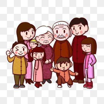 رسوم متحركة صورة العائلة عائلة رجل عجوز عائلة الآباء طفل Png وملف Psd للتحميل مجانا Family Cartoon Family Portraits Cartoon