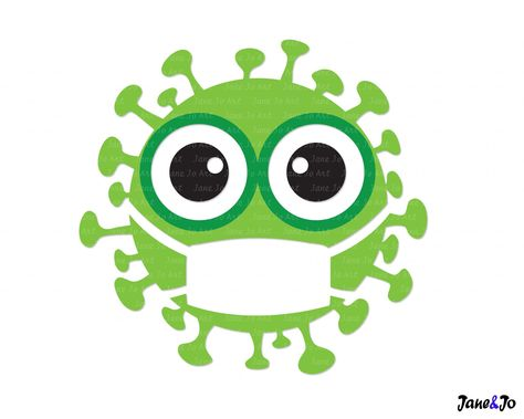 """""""Virus SVG, Social Distancing Svg, Quarantine SVG ,Virus with mask svg Clipart Vector Disease,cutting file circuit,T-shirt Germs Green Cute * * * * * * * * * * * * * * * * * * * * * * BUY 2, GET 1 FREE! Purchase any 2 items and get a 3rd item of equal or lesser value free! Add all three items to your cart and use coupon code BUYME to redeem your offer. Please make sure that the discount has been applied before you proceed with your payment. Add three items to your cart and don't miss our coupon"""