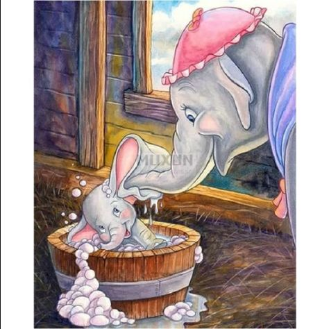 5D Diamond Painting Dumbo Bubble Bath Kit Offered by Bonanza Marketplace. www.BonanzaMarketplace.com #diamondpainting #5ddiamondpainting #paintwithdiamonds #disneydiamondpainting #dazzlingdiamondpainting #paintingwithdiamonds #Londonislovinit #Bubble