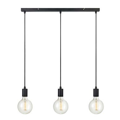 Suspension 3 Douilles En Metal Noir Sky Markslojd Metal Noir Douille Metal