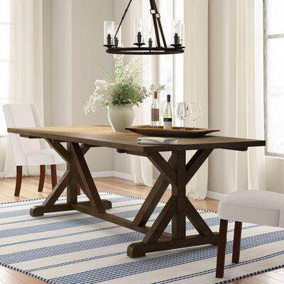 Three Posts Winthrop Dining Table Wayfair In 2020 Dining Table Extendable Dining Table Solid Wood Dining Table