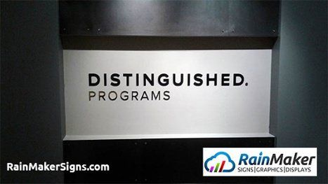 Insurance Office Lobby Sign At Distinguished Programs Bellevue Wa Lobby Sign Custom Sign Bellevue