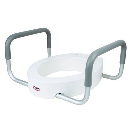 Carex Raised Toilet Seat With Handles Standard Elongated Toilets