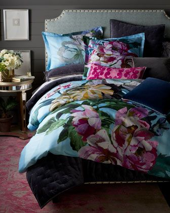 Designers Guild Delft Flower Sky Queen Duvet Cover And Matching Items Duvet Cover Master Bedroom Queen Duvet Covers Master Bedrooms Decor