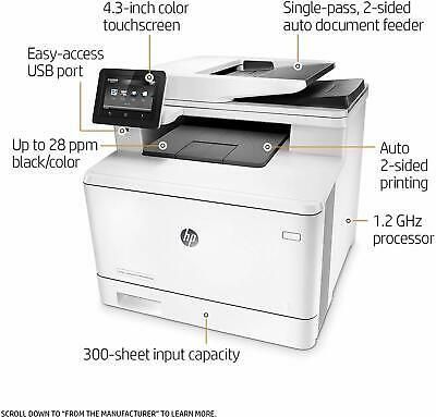 Ebay Link Ad Hp Laserjet Pro M477fdw All In One Wireless Color Laser Printer Mfp Cf379a In 2020 Laser Printer Printer All In One