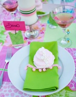 Lilly Pulitzer Inspired Shower