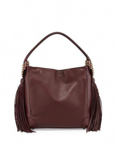 ea3c8098fe7 V2ZJD Christian Louboutin Eloise Fringe Leather Hobo Bag, Bordeaux ...
