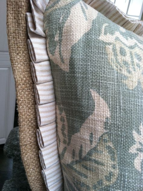 pleat edged pillow