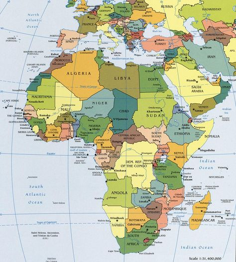 africa map political 2016 - Cerca con Google | Geography ...