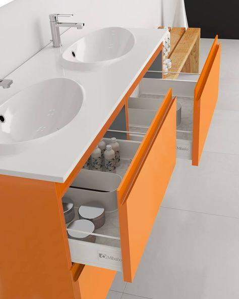 Muebles Para Bano Color Naranja Mibano Muebles De Bano Banos