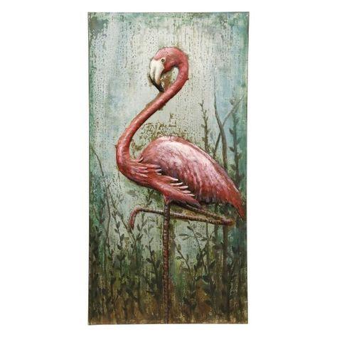 47 Three Dimensional Metal Flamingo Hand Made Decorative Wall Art Stylecraft Target Flamingo Wall Art Nature Canvas Painting Unique Wall Art