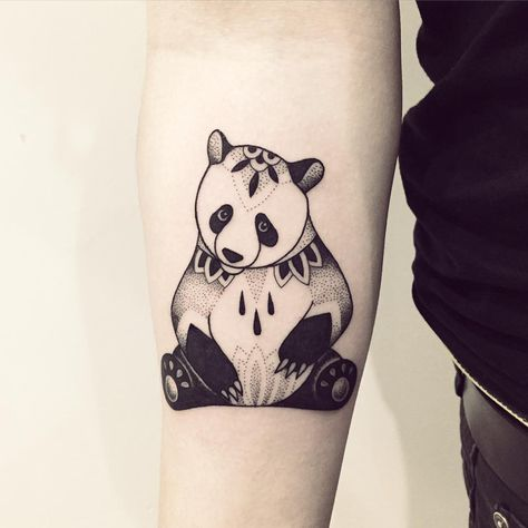 Awesome panda tattoo.