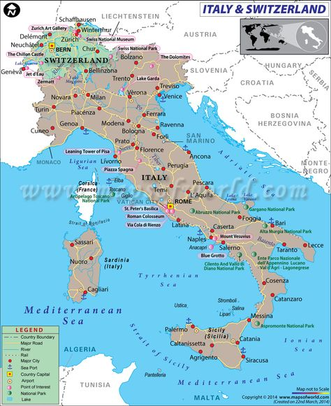 Map Of Switzerland And Italy Pinterest