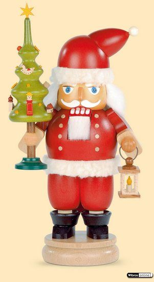 Nutcracker Santa Claus with tree (23cm/9in) by Müller Kleinkunst