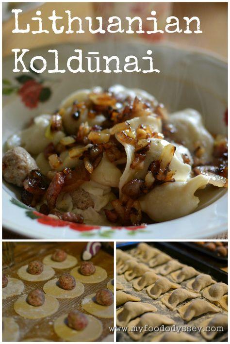 Lithuanian Koldūnai | Meat Dumplings (Recipe). Also known as virtiniai, koldunai are small dumplings similar to ravioli or Polish Pierogi.